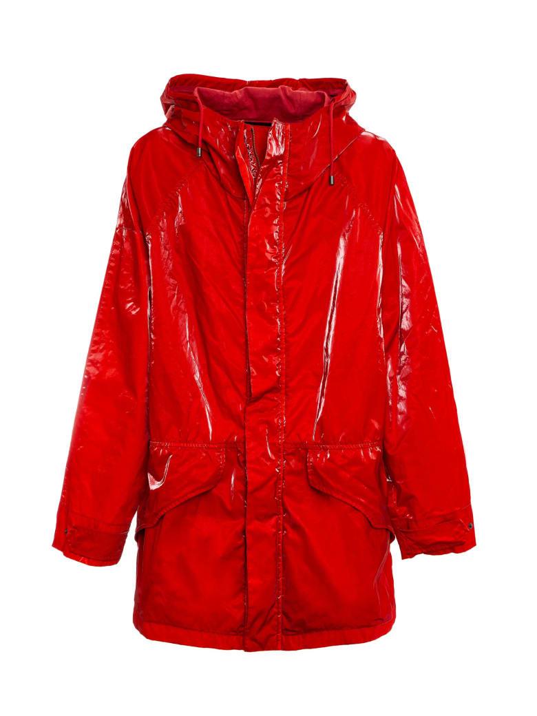 Mr & Mrs Italy Cotton Velvet Tech Unisex Anorak Jacket - FLAME