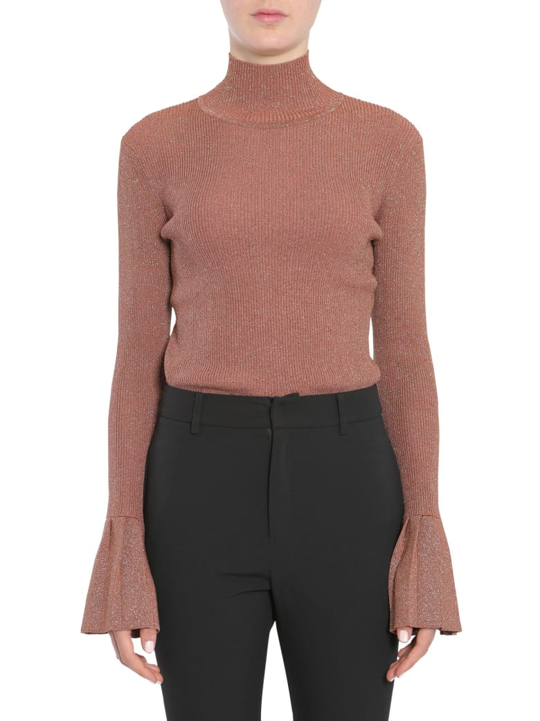 Carven Mock Collar Sweater - MARRONE