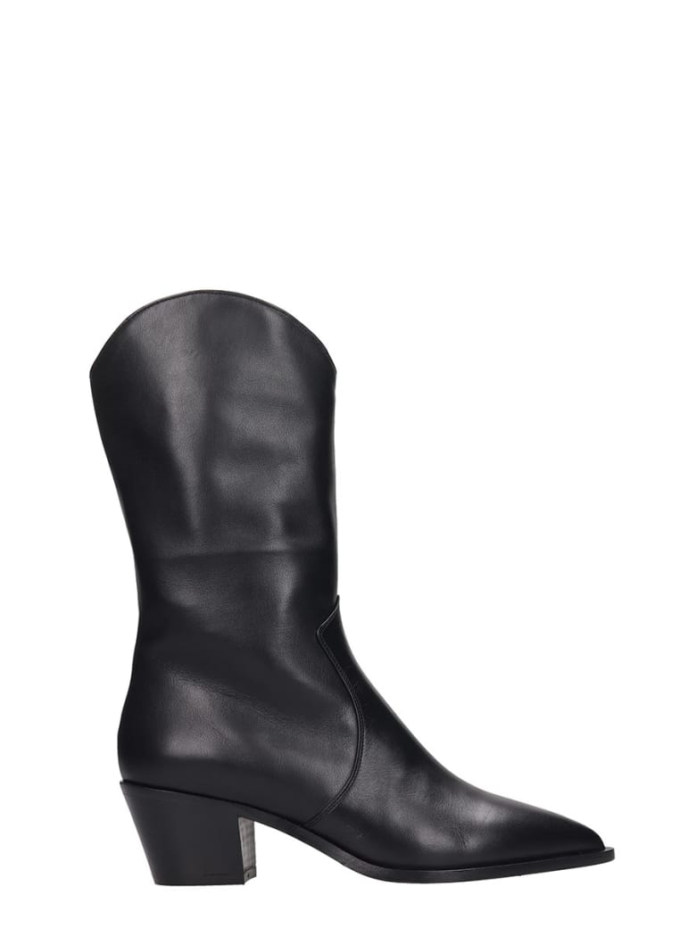 The Seller Texan Boots In Black Leather - black