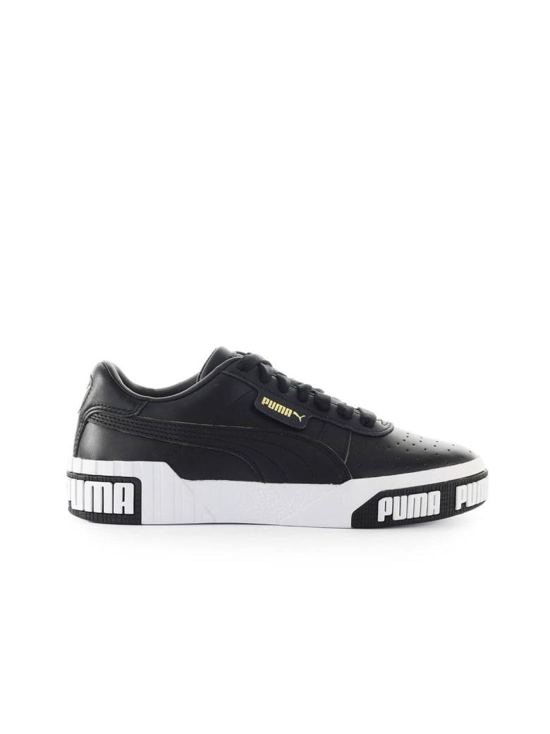 Puma Cali Bold Black Gold Sneaker - Black (Black)