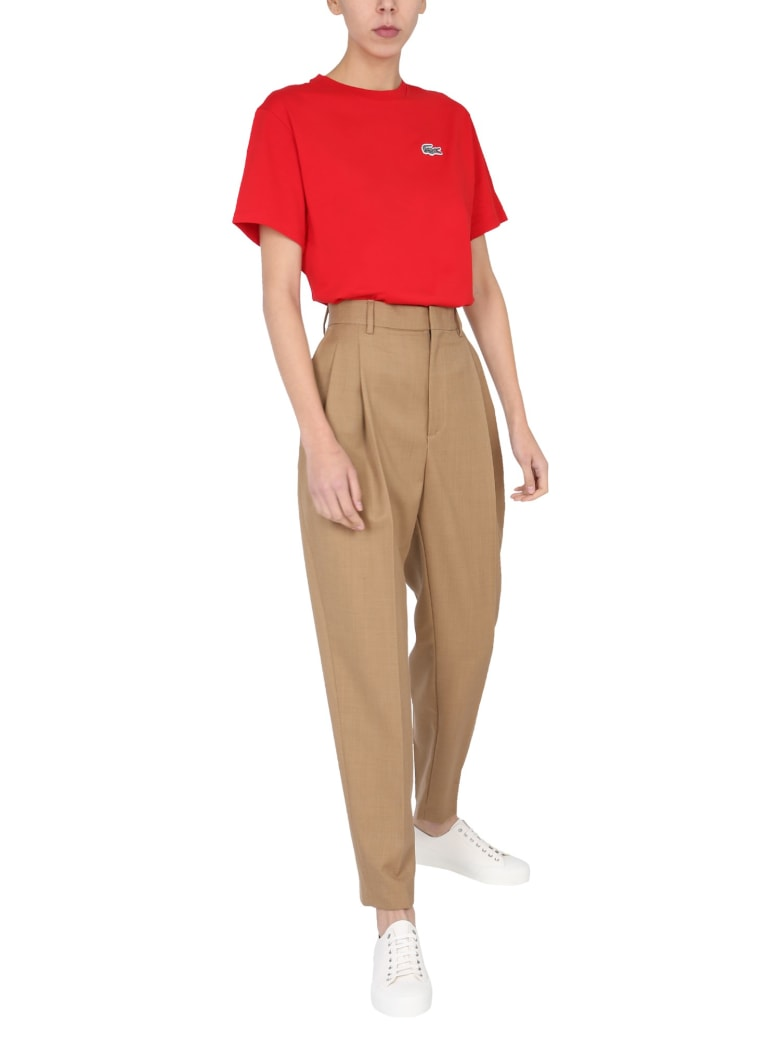 Lacoste Crew Neck T-shirt - ROSSO