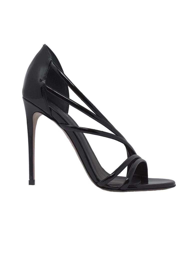 Le Silla Black Patent Scarlet 100 Sandals - BLACK
