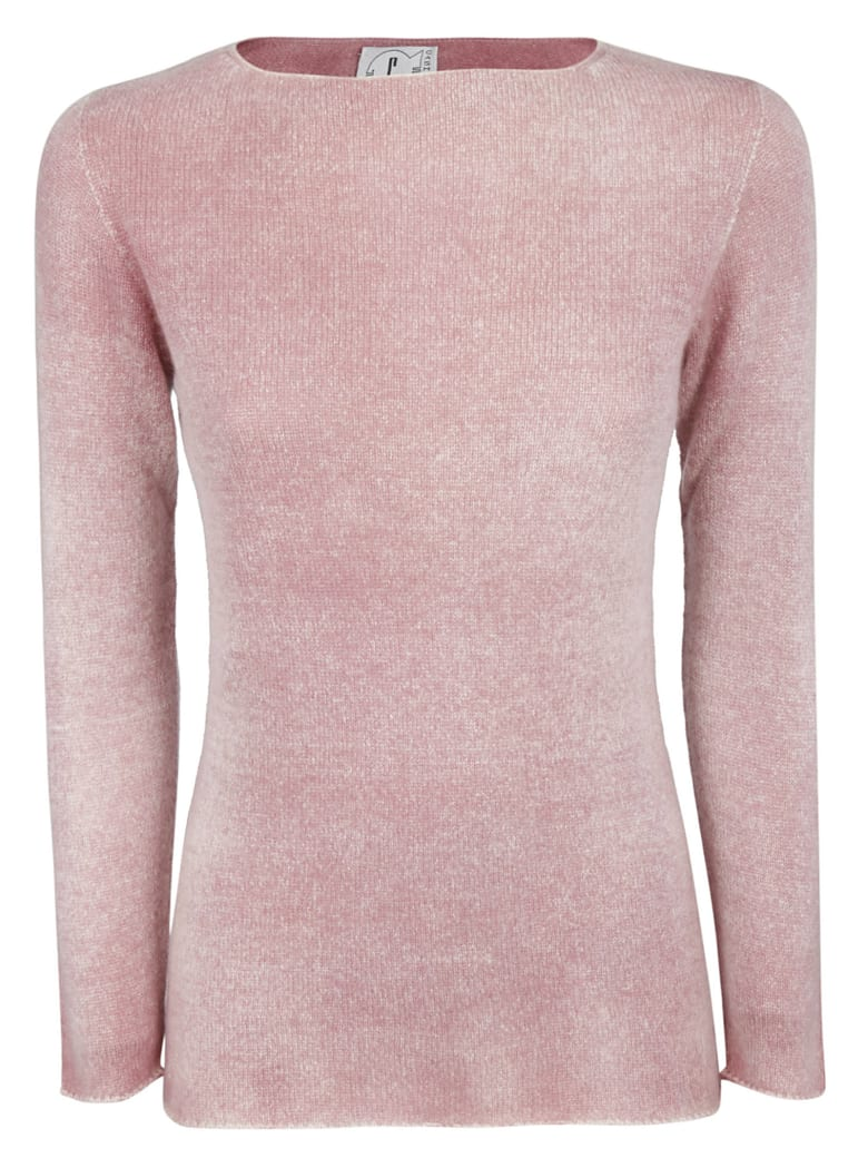 f cashmere Long-sleeved Jumper - Rosewood