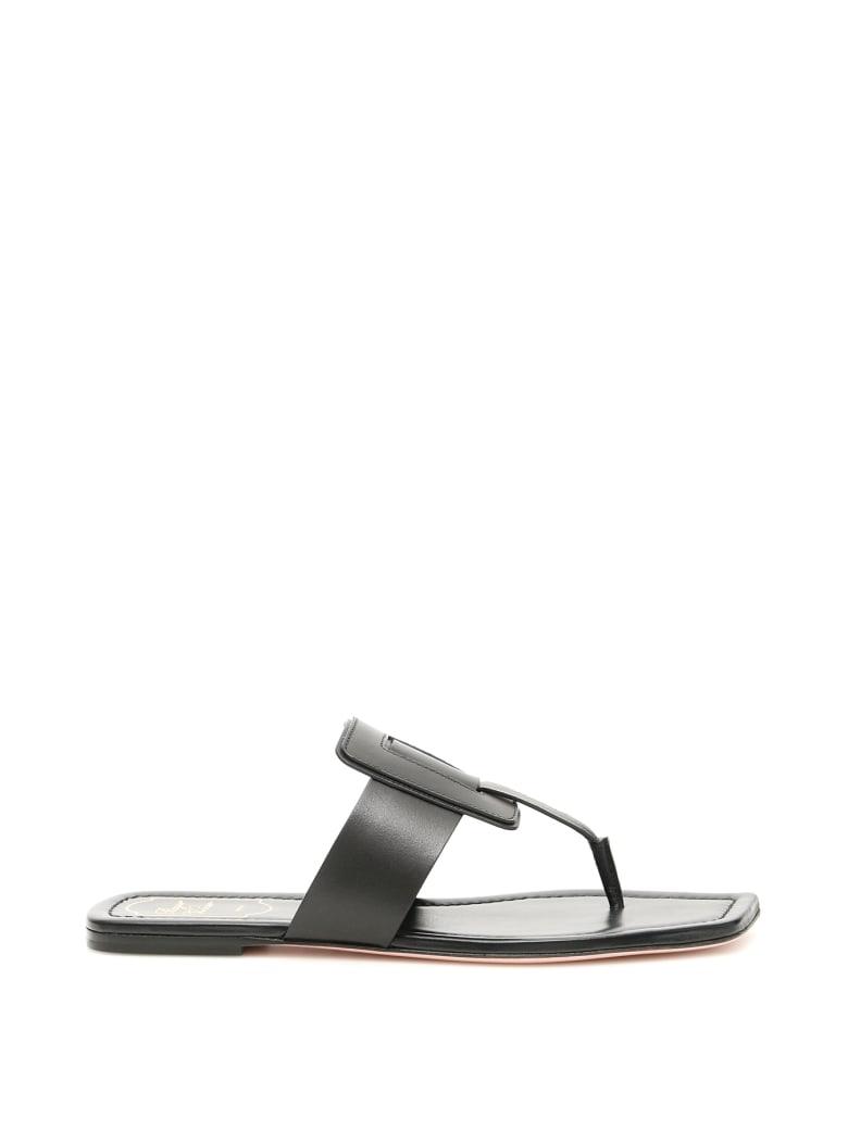 Roger Vivier Viv Sellier Thong Sandals - NERO (Black)