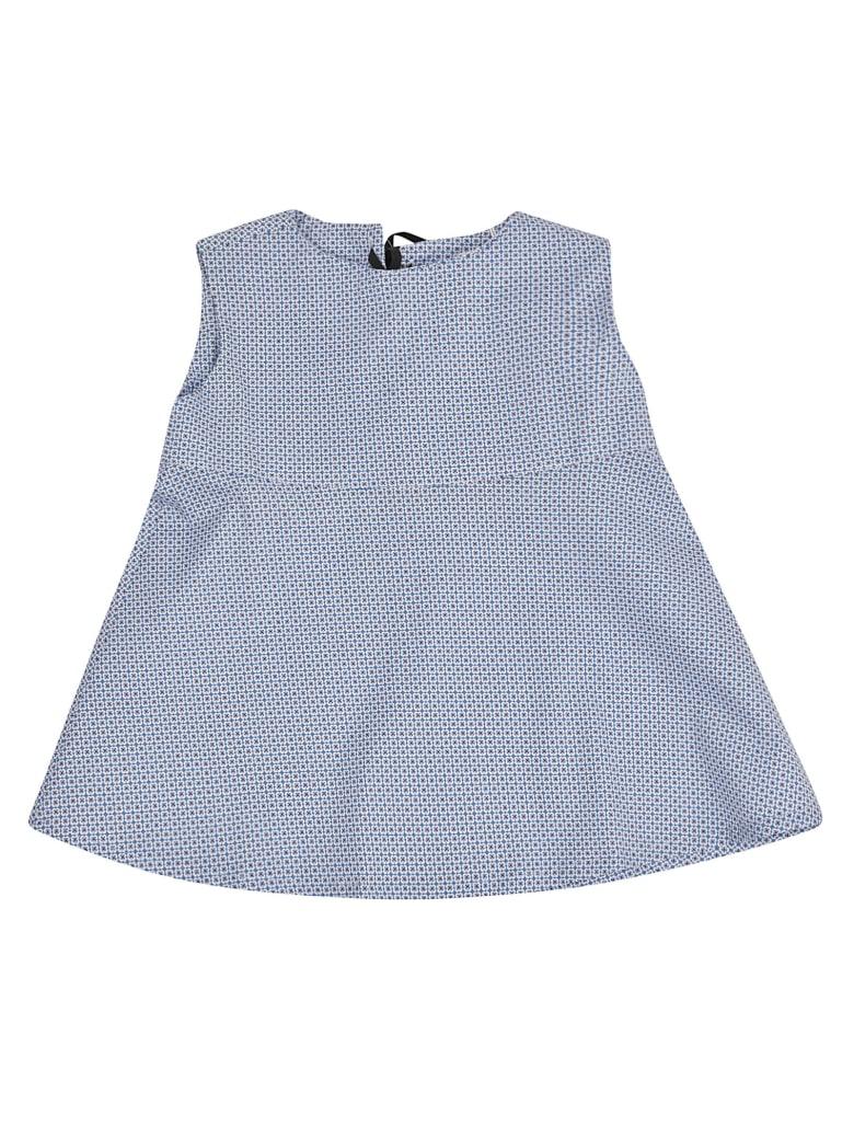 Giro Quadro Patterned Dress - Blue