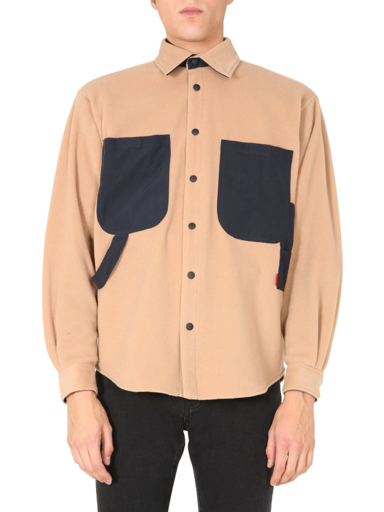MSGM Fleece Shirt - BEIGE