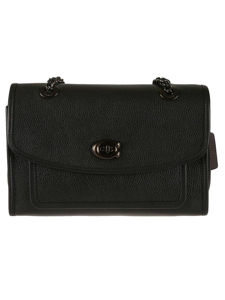 Coach Twist-lock Shoulder Bag - Black