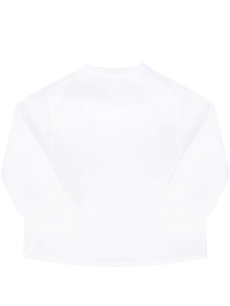 Little Bear White Shirt For Babykids - White