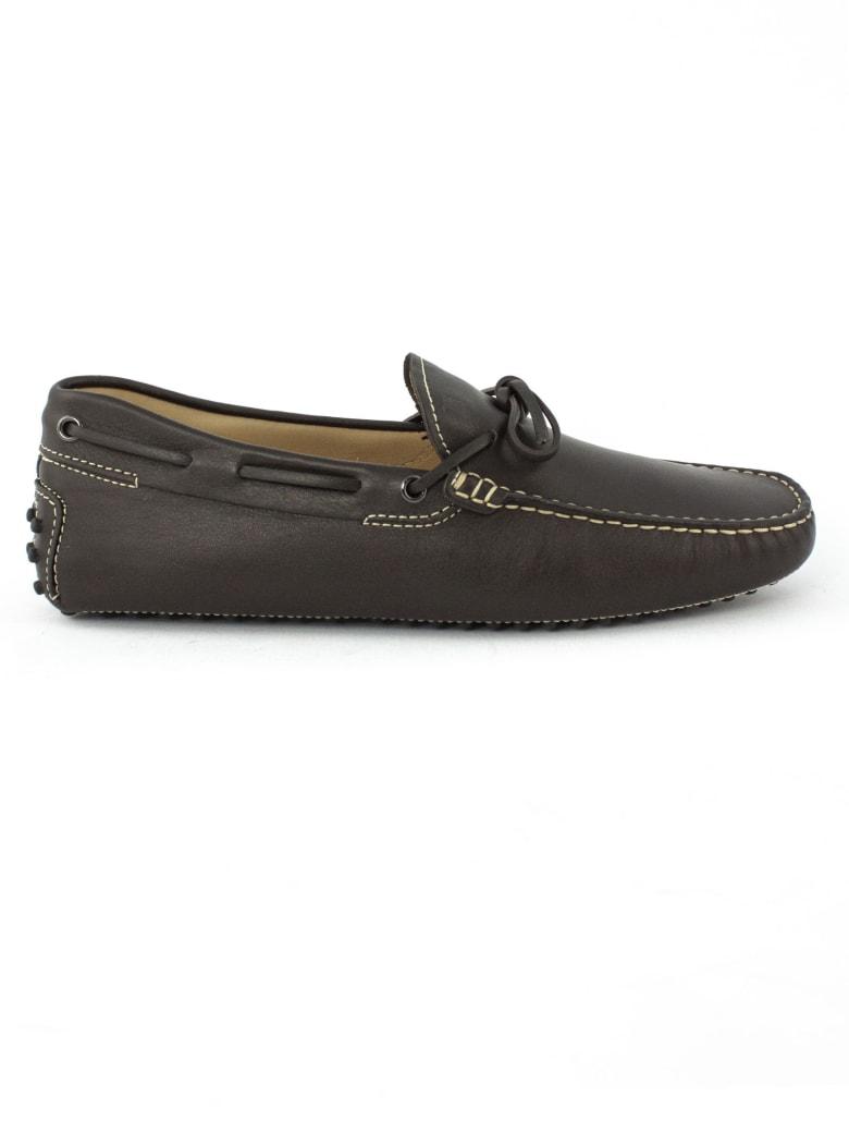 Tod's Gommino In Brown Leather - Testa Di Moro