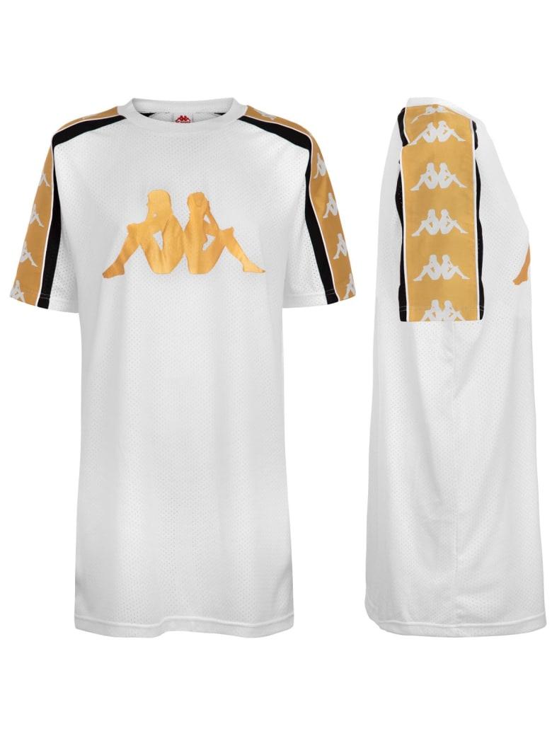 Kappa Short Sleeve T-Shirt - White/black/yellow