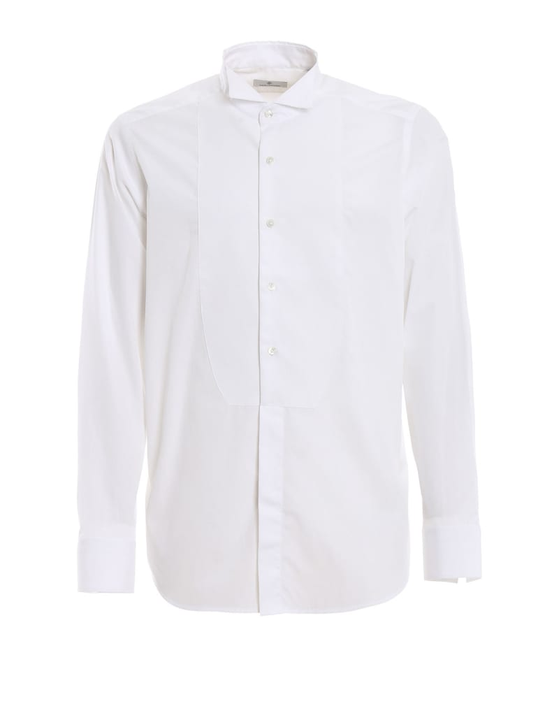 Tagliatore Diplomat Neck Evening Shirt - White