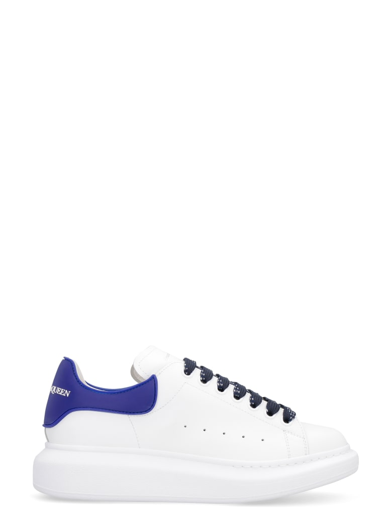 Alexander McQueen Larry Leather Low-top Sneakers - White