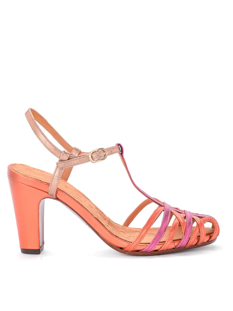 Chie Mihara Heeled Multicolor Leather Sandal Chie Mihara Ku-quenu - MULTICOLOR