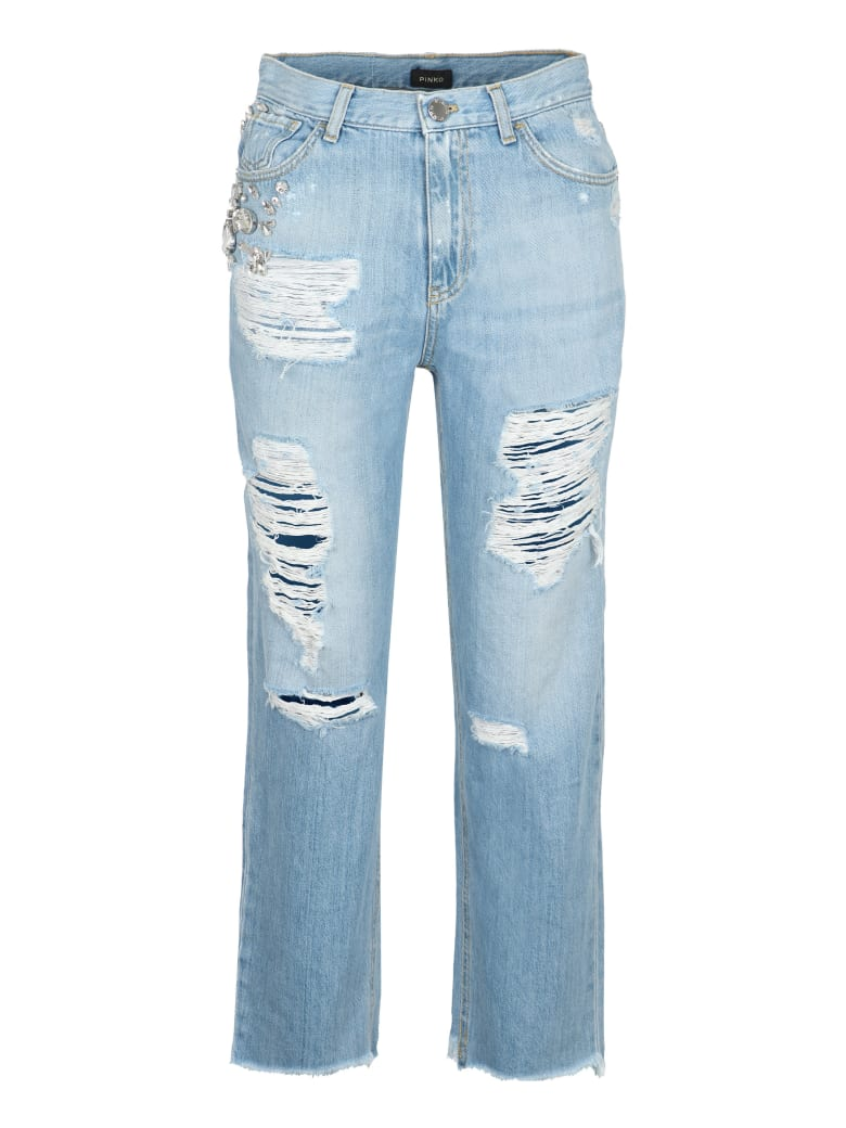 Pinko Maddie Embellished Jeans - Denim