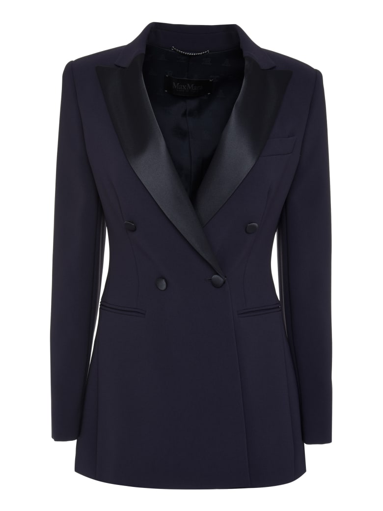 Max Mara Lolly Double Breasted Blazer - blue