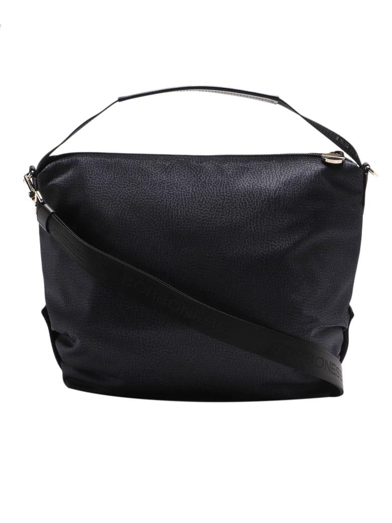 Borbonese Hobo Bag Medium - Nero/nero