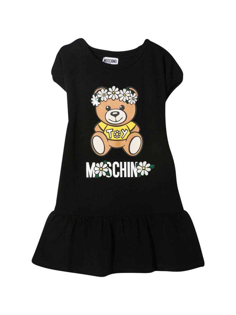 Moschino Black Teen Dress With Toy Print - Nero