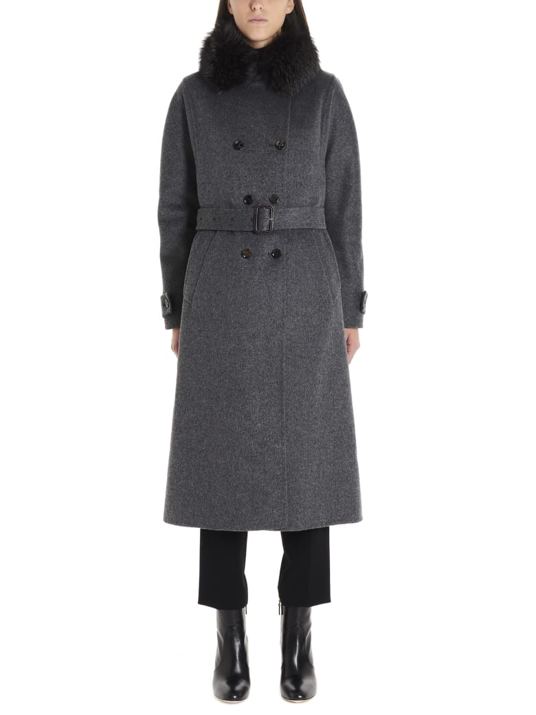 Moorer 'gelsomino' Coat - Grey