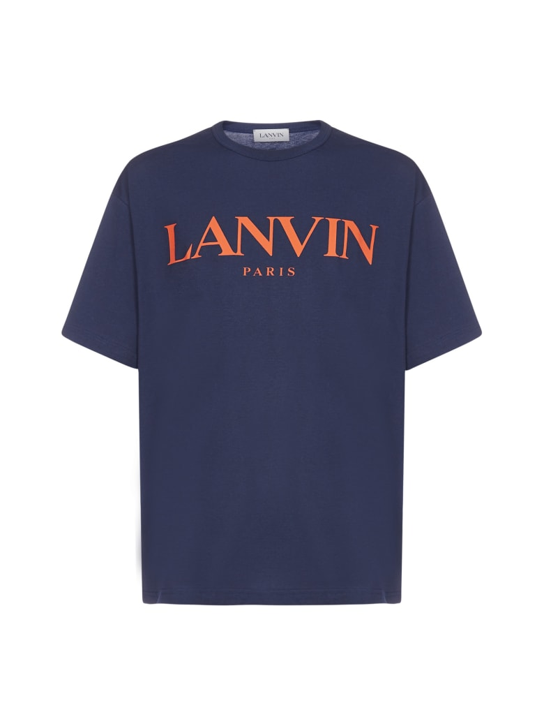 Lanvin Logo Cotton Oversized T-shirt - Navy blue
