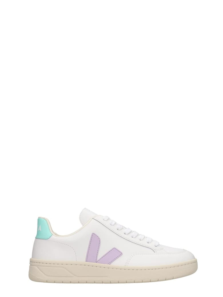 Veja V-12 Sneakers In White Leather - white