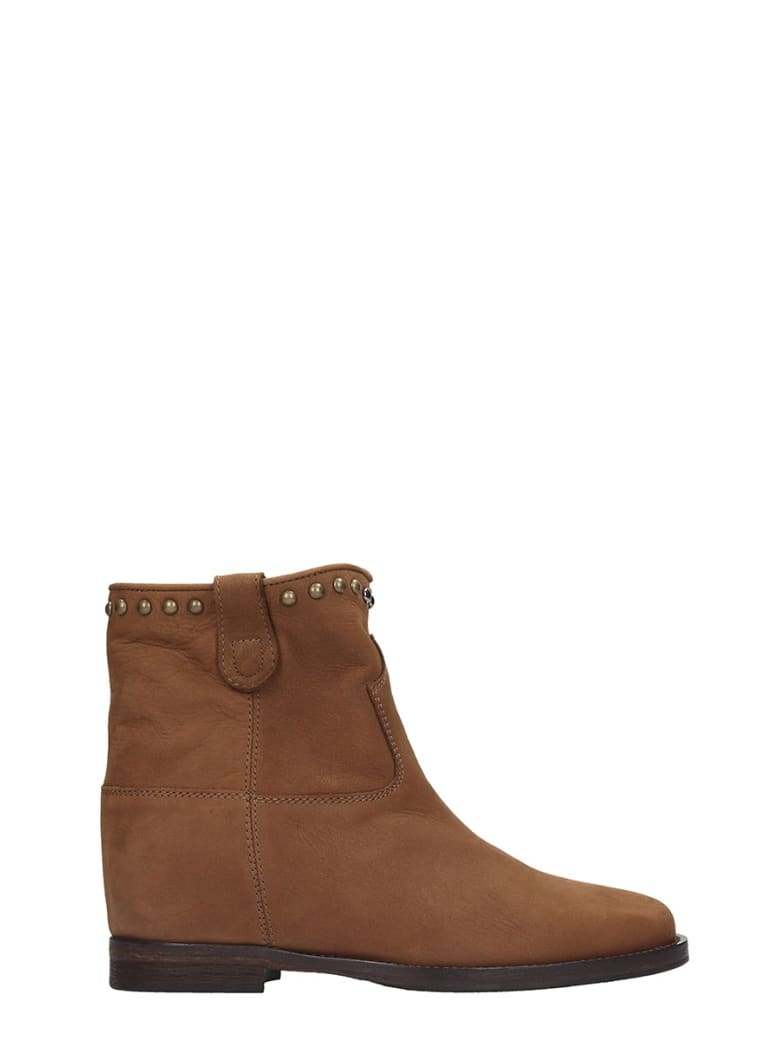 Via Roma 15 Ankle Boots In Leather Color Nubuck - leather color