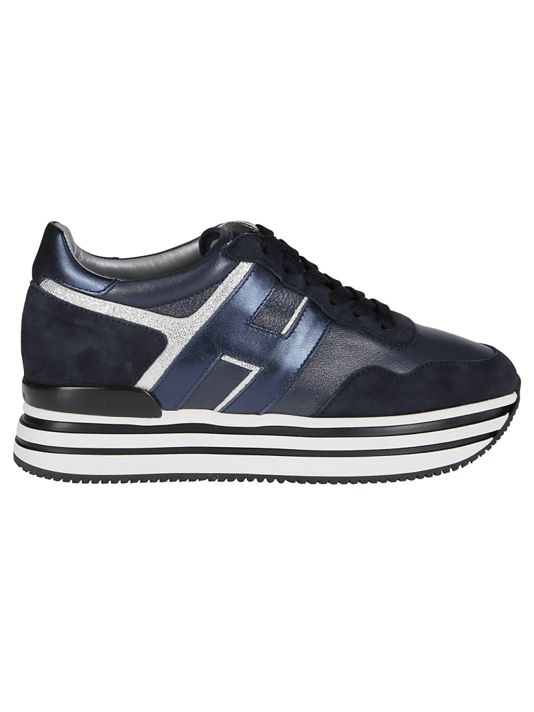 Hogan Blue Leather H222 Sneakers - Blue
