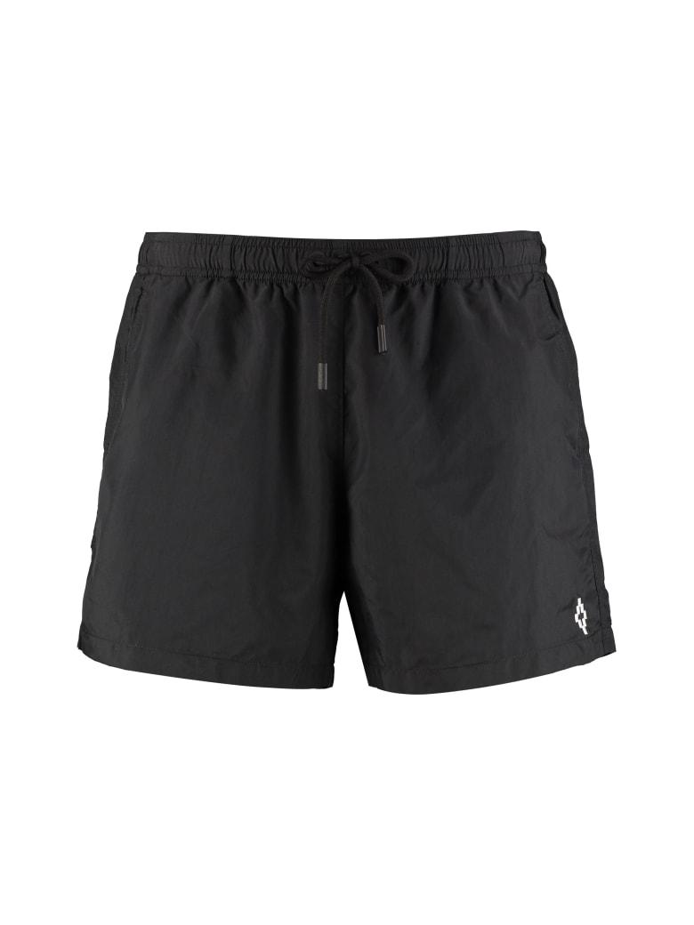 Marcelo Burlon Nylon Swim Shorts - black