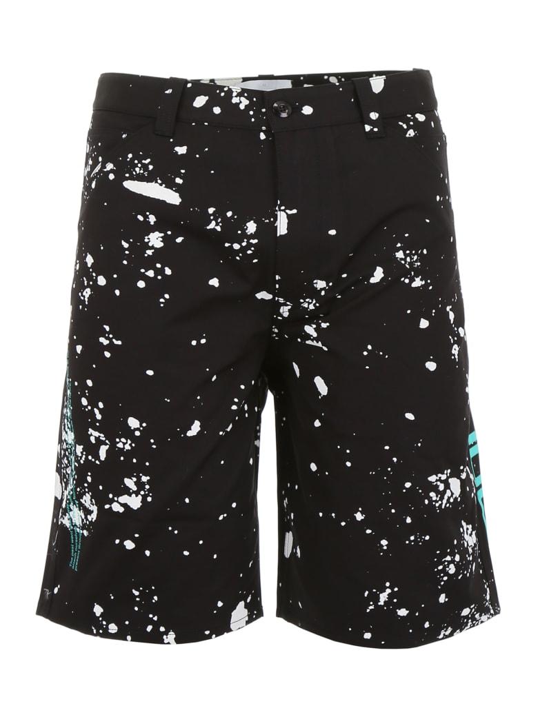 OAMC Splatter Bermuda Shorts - BLACK (Black)