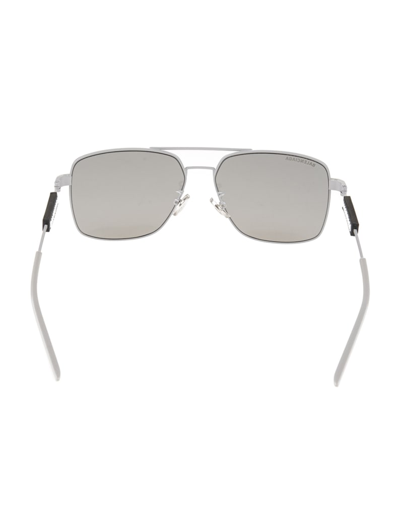 Balenciaga Silver Tag Navigator Woman Sunglasses - Light grey