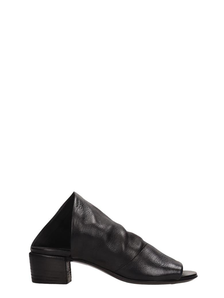 Marsell Black Leather Sandals - black