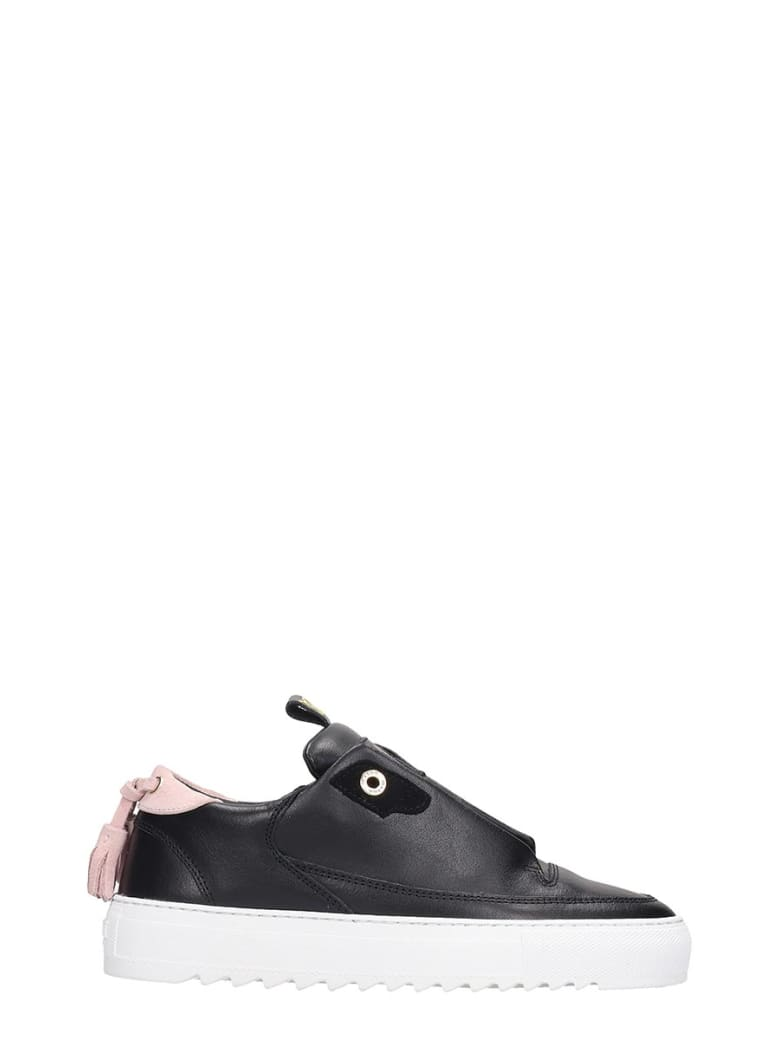 Mason Garments Milano Sneakers In Black Leather - black