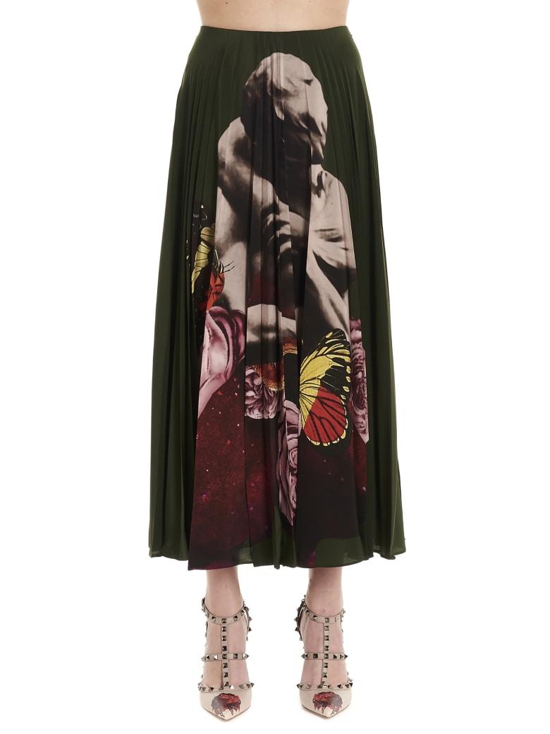 Valentino 'lovers' Skirt - Green