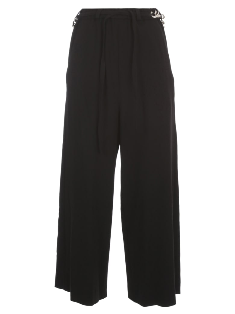 Y's A Chain String Pants - Black