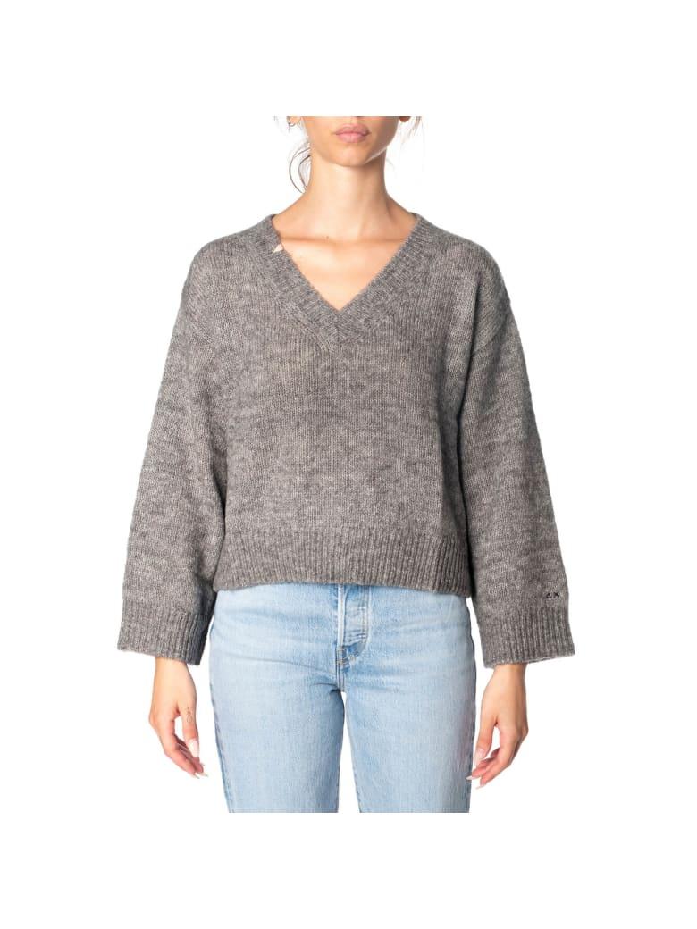 Sun 68 Sun68 Wool Blend Sweater - LIGHT GREY