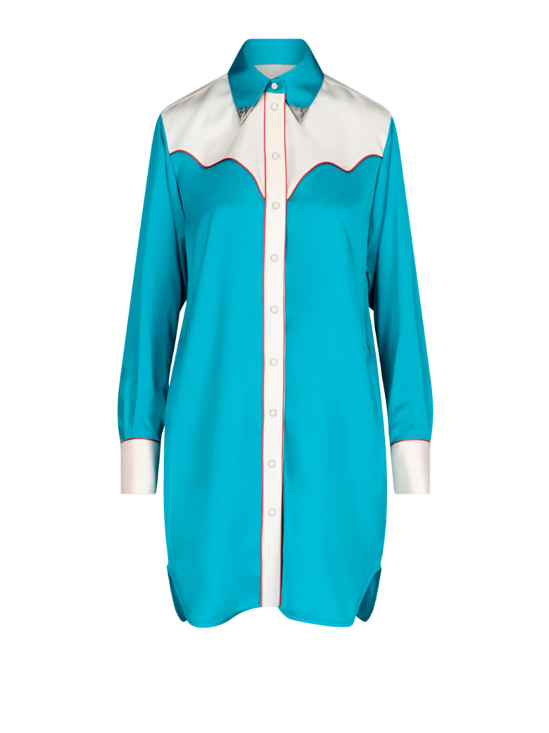 Golden Goose Long Length Design Skylar Shirt - Light blue