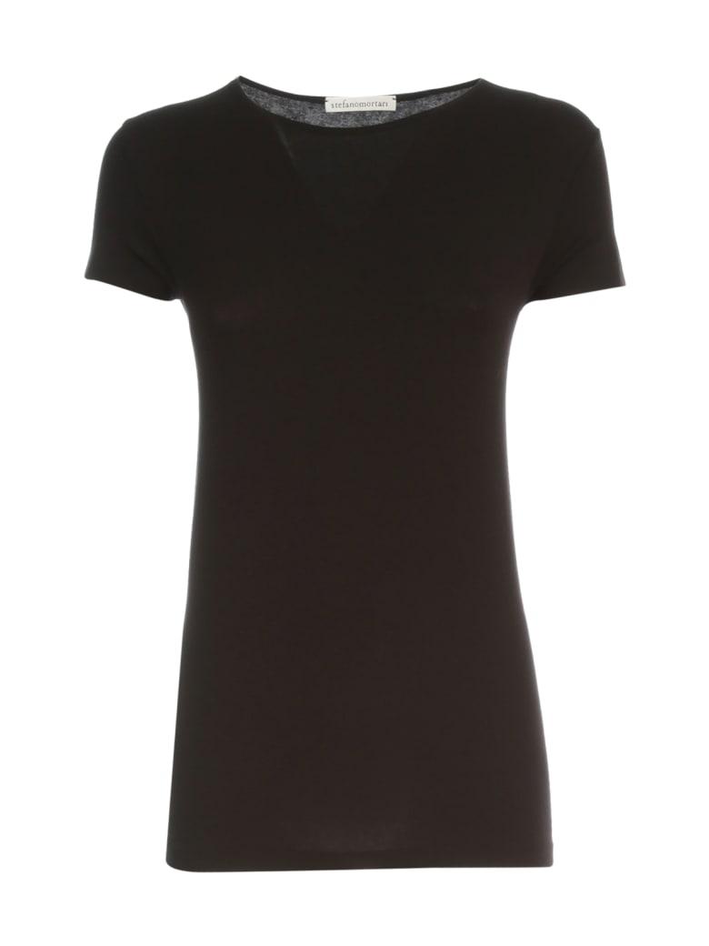 Stefano Mortari S/s Crew Neck T-shirt - Black