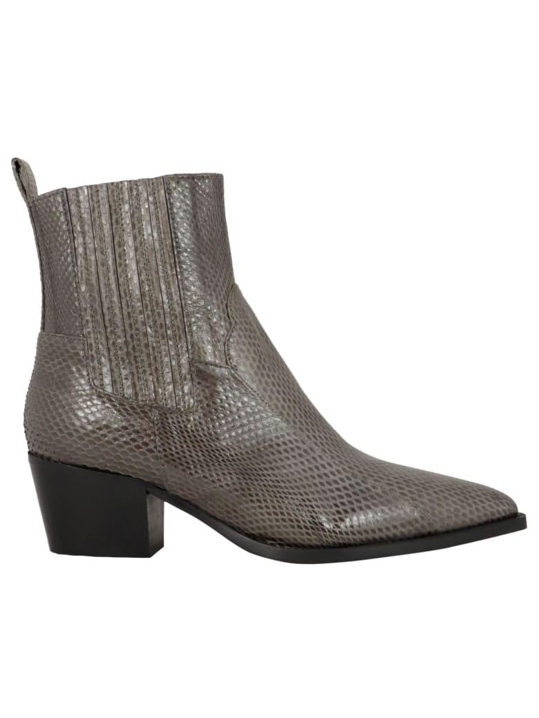 Malìparmi 100 Leather Boots - GREY