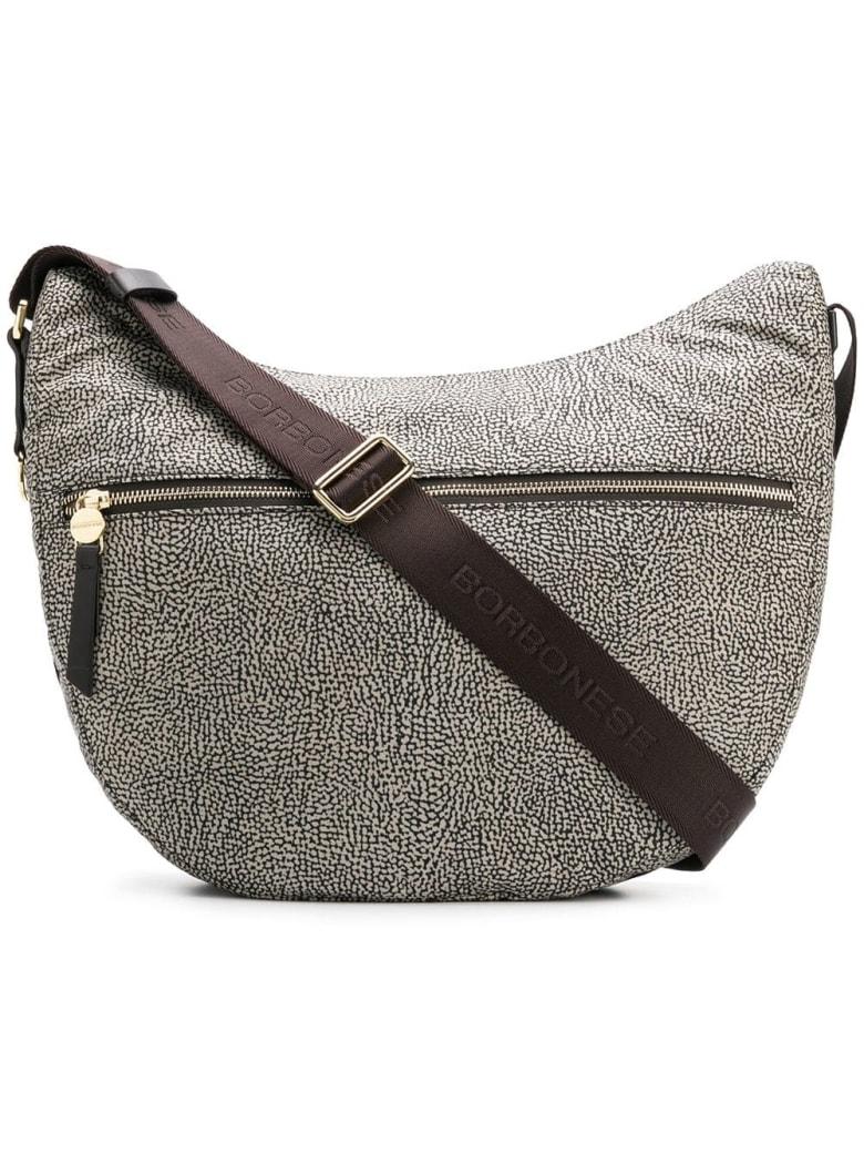 Borbonese Medium Luna Hobo Bag - Op Classico/marrone