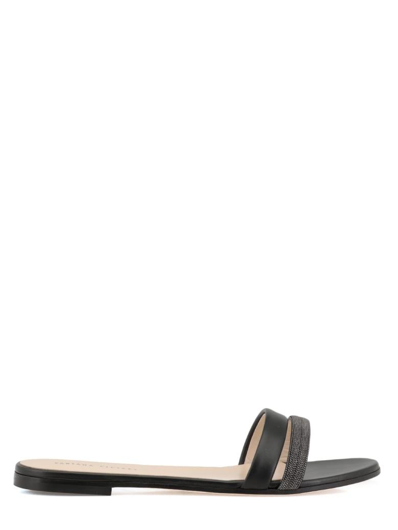 Fabiana Filippi Leather Flat Shoe - BLACK