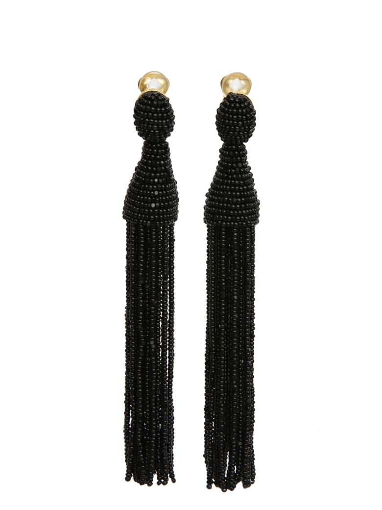 Oscar de la Renta Earrings - Black
