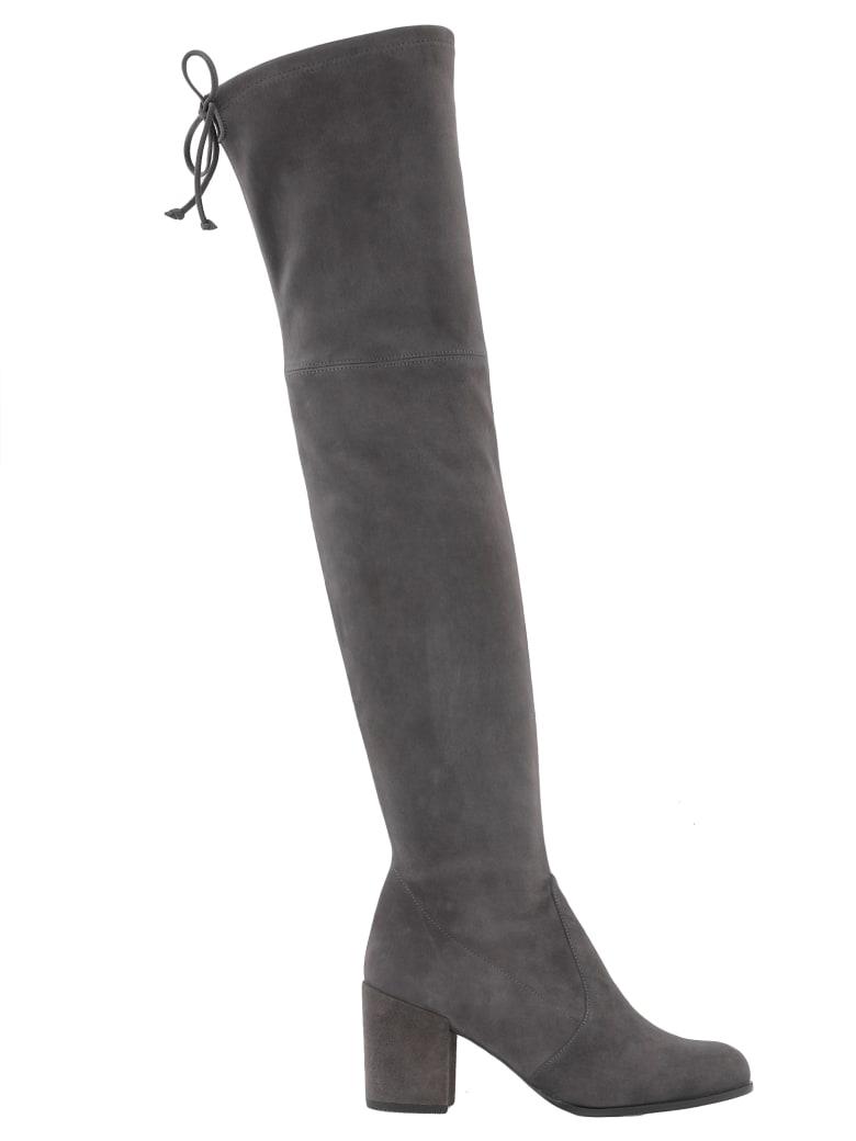 Stuart Weitzman Leather Cuissard Boot - SLATE