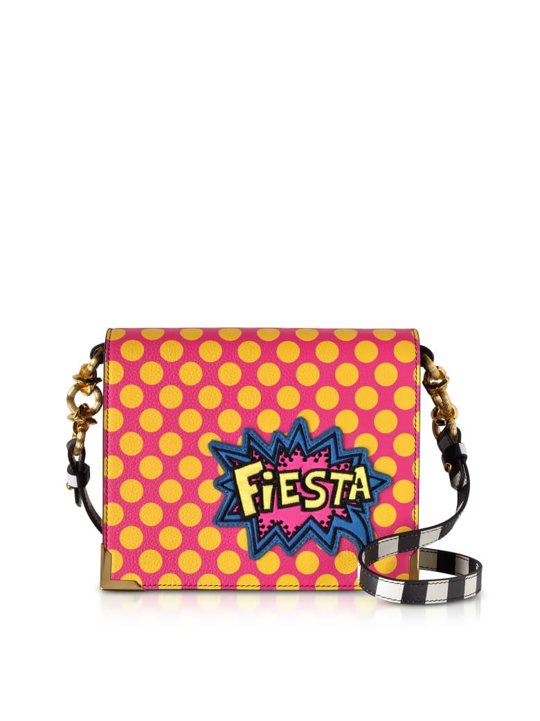 Alessandro Enriquez Hera Pop Fiesta Leather Shoulder Bag - Red