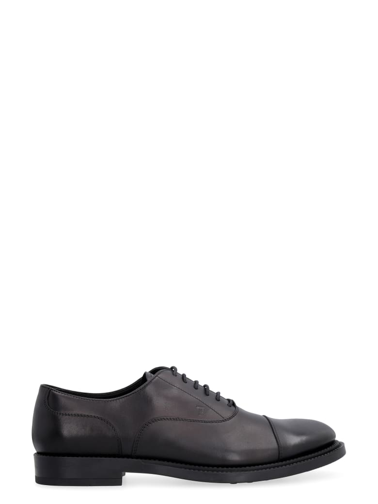 Tod's Smooth Leather Lace-up Shoes - black