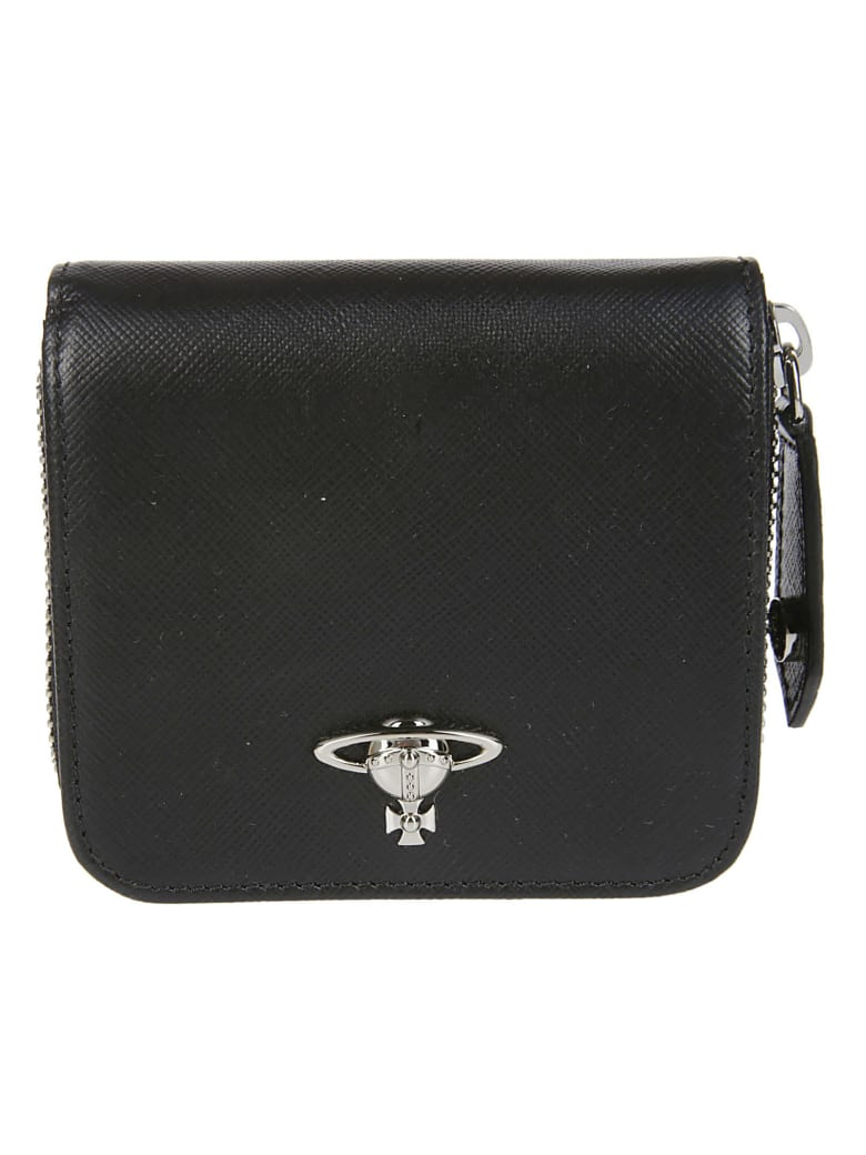 Vivienne Westwood Black Leather Wallet - Black