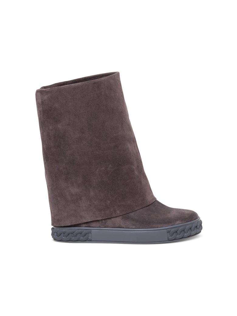 Casadei Cuffed Boots - Grey
