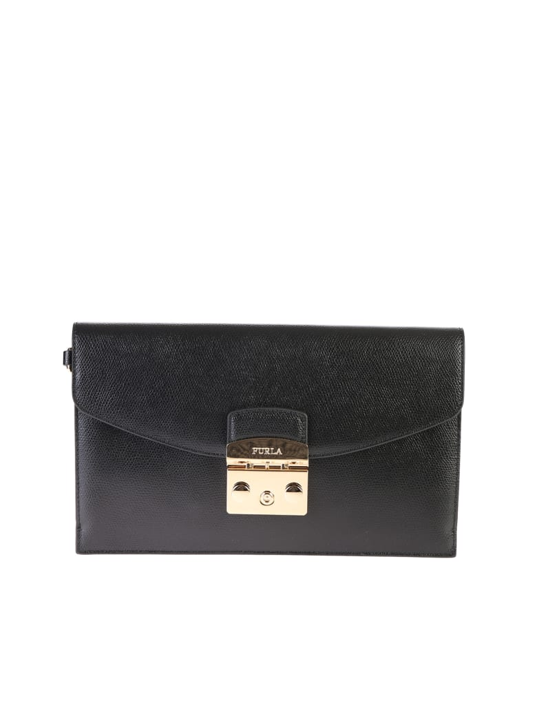 Furla Metropolis M Envelope Clutch - Black