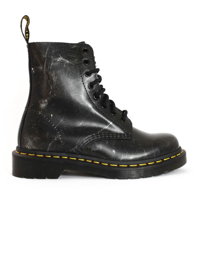 Dr. Martens 1460 Metallic Detail Boots - Silver