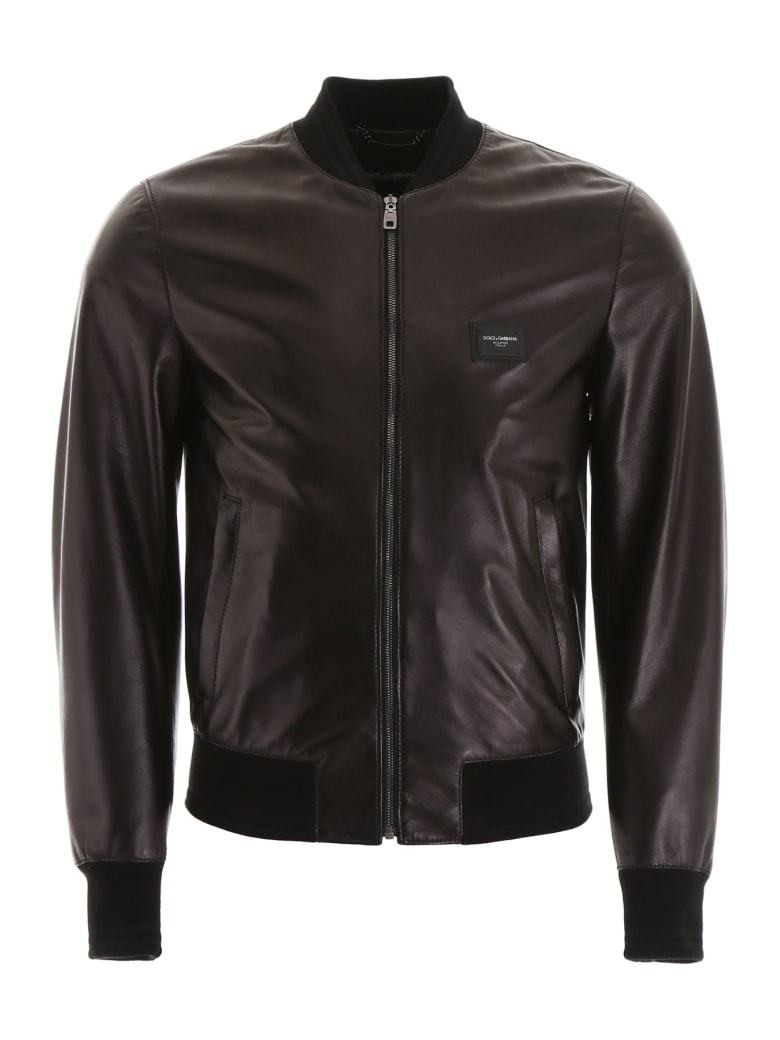 Dolce & Gabbana Leather Jacket - NERO (Black)