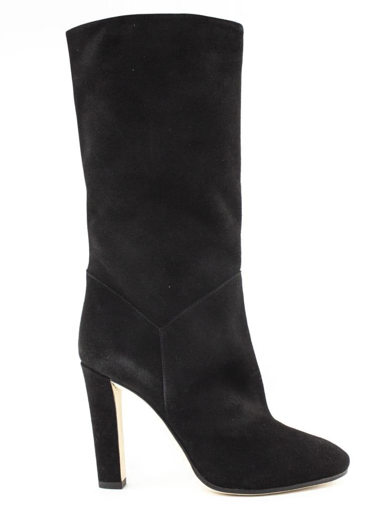 Alberta Ferretti Black Suede Catwalk Boots - Nero
