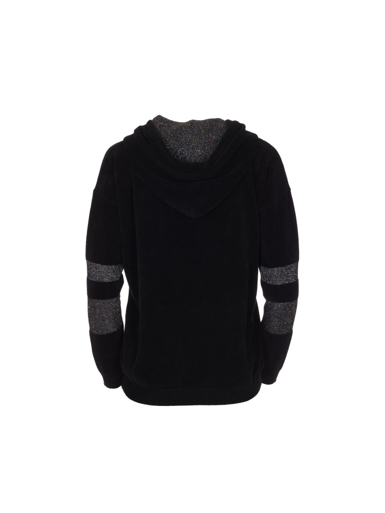 Antonella Rizza VELVET Sweatshirt - Black Multicolor